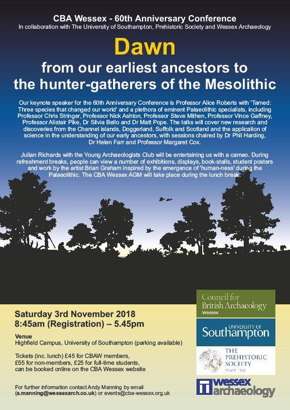 Dawn :  New light on our earliest ancestors up to the hunter-gatherers of the Mesolithic